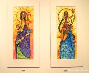 'Glowering Lady 2' & 'Flowering Lady 1'