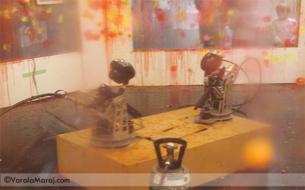 paintball robots frieze projects art fair london 2013