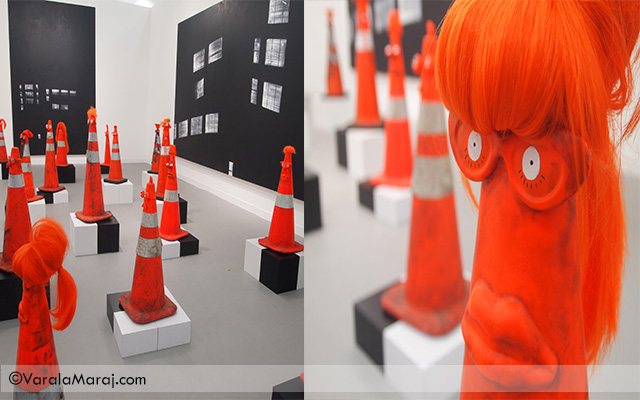 traffic cones frieze art fair london 2013